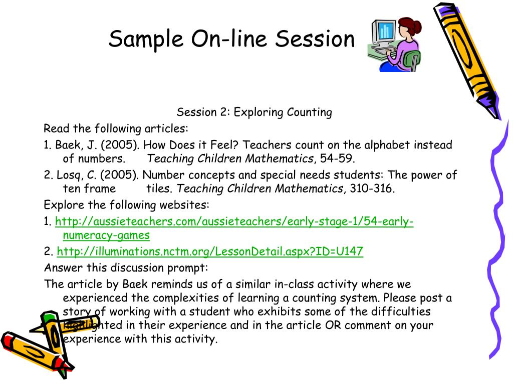 Sample On-line Session
