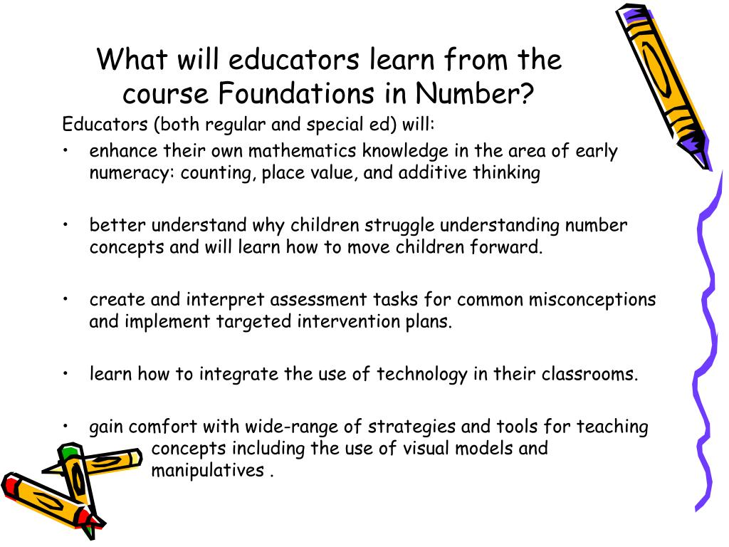 What will educators learn from the course Foundations in Number?