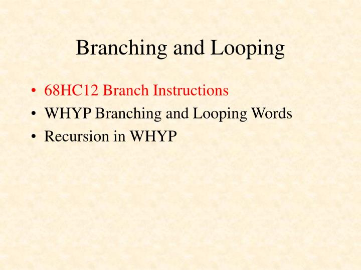 Branching and looping2