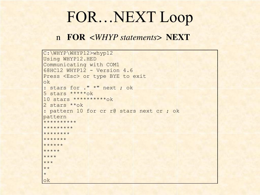 FOR…NEXT Loop