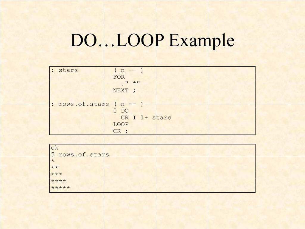 DO…LOOP Example