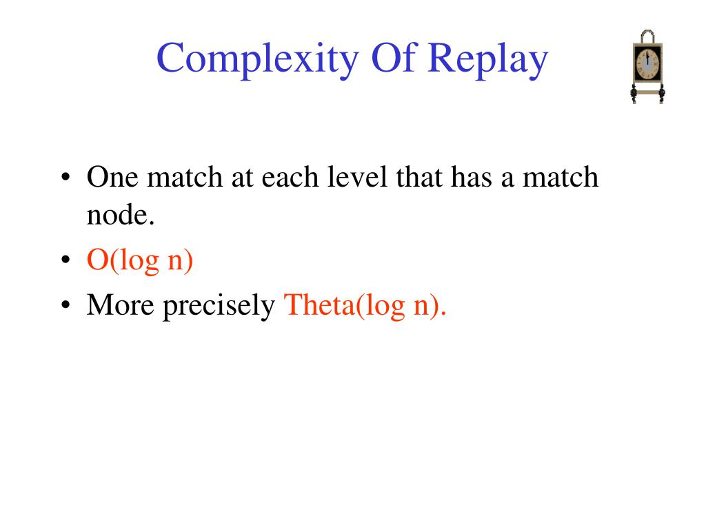 Complexity Of Replay
