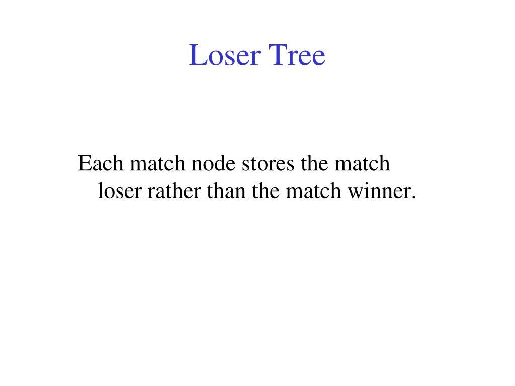 Loser Tree