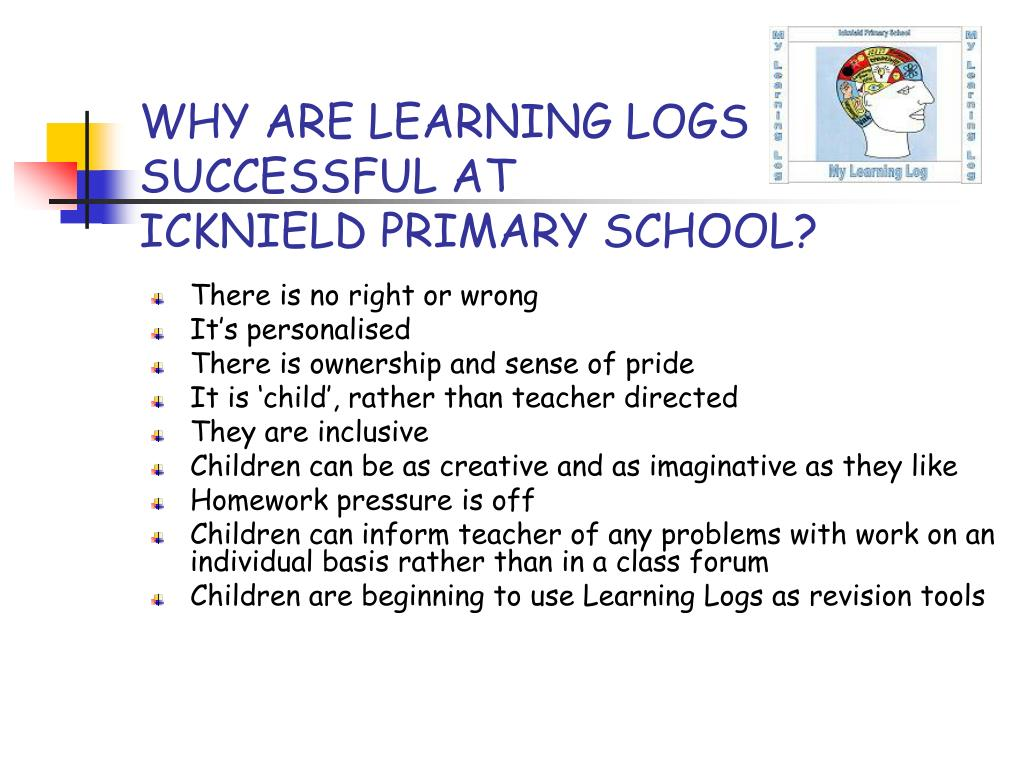 WHY ARE LEARNING LOGS
