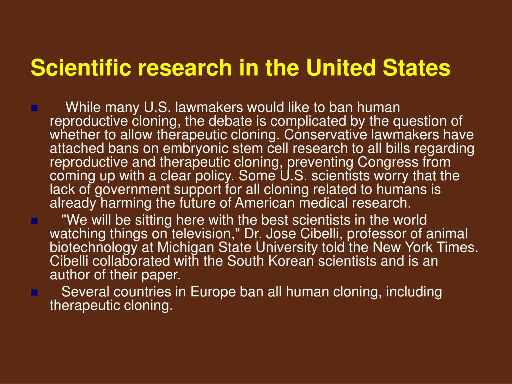 Scientific research in the United States