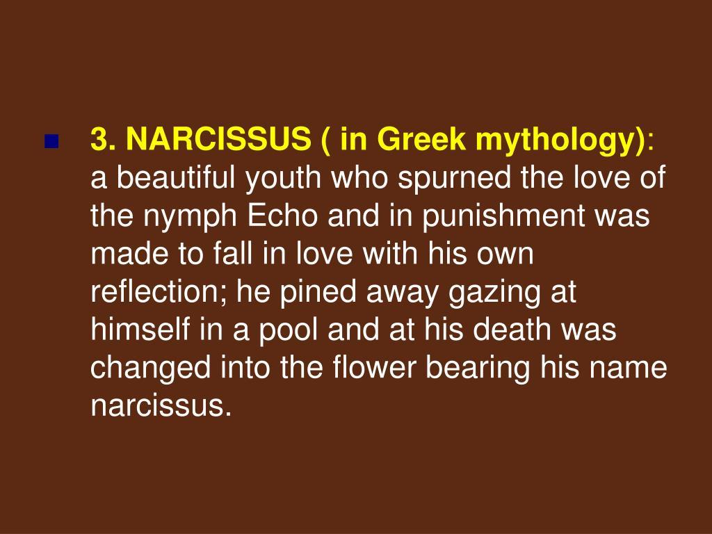 3. NARCISSUS ( in Greek mythology)