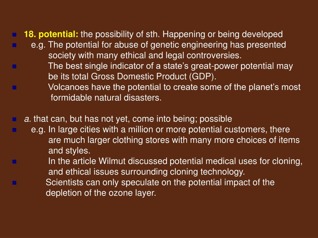 18. potential:
