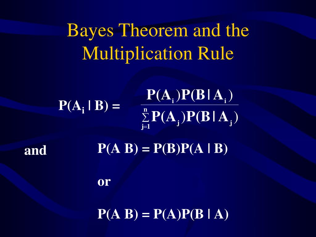 Bayes Theorem and the Multiplication Rule