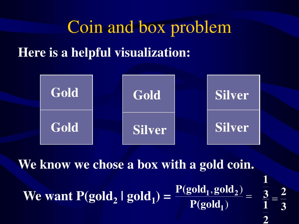 Coin and box problem
