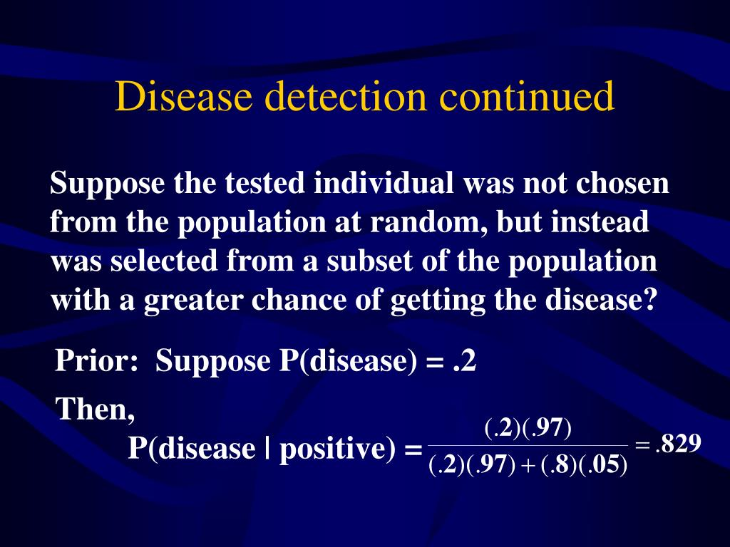 Disease detection continued