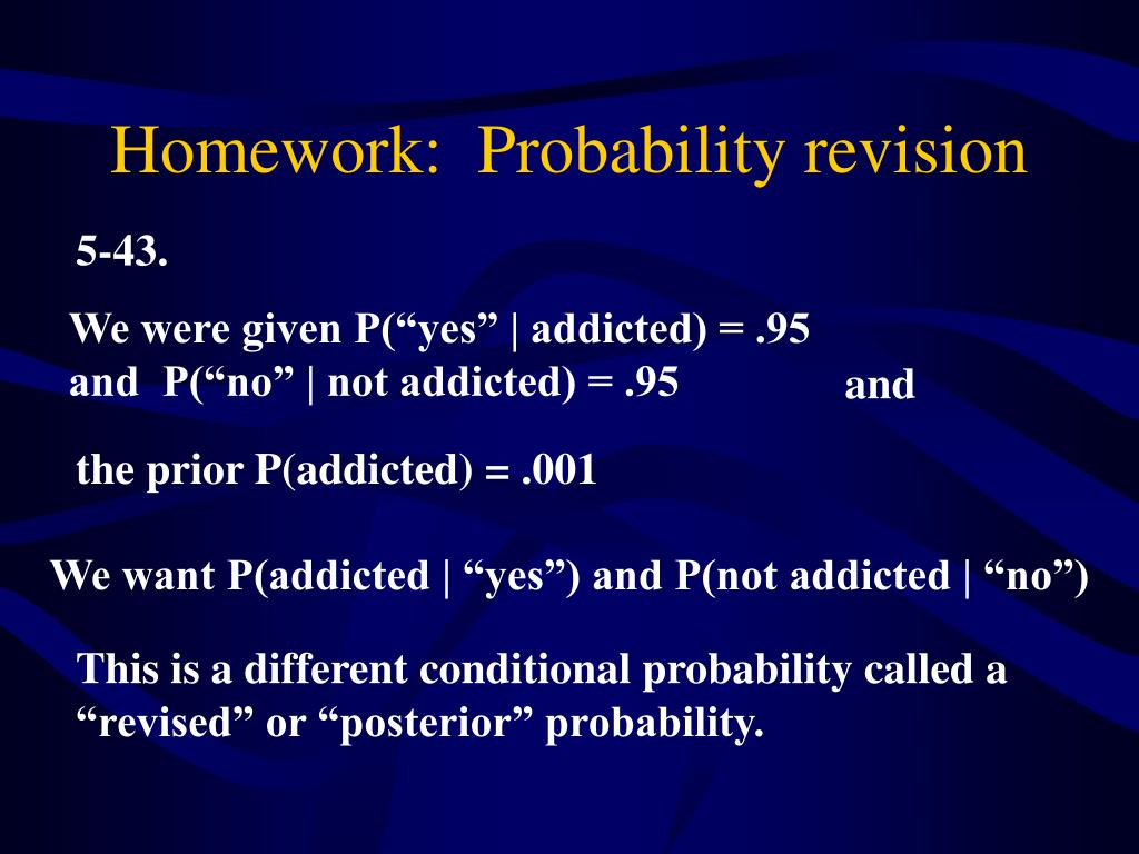 Homework:  Probability revision