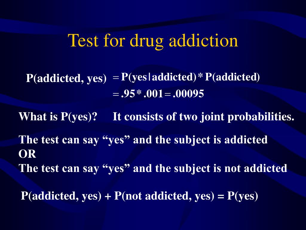 Test for drug addiction