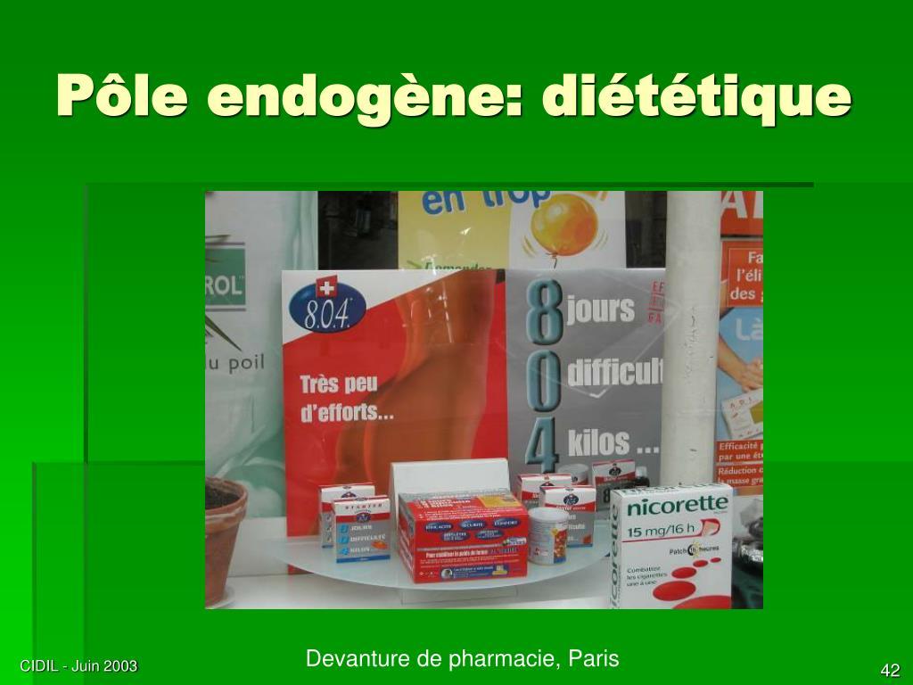 Pôle endogène: diététique