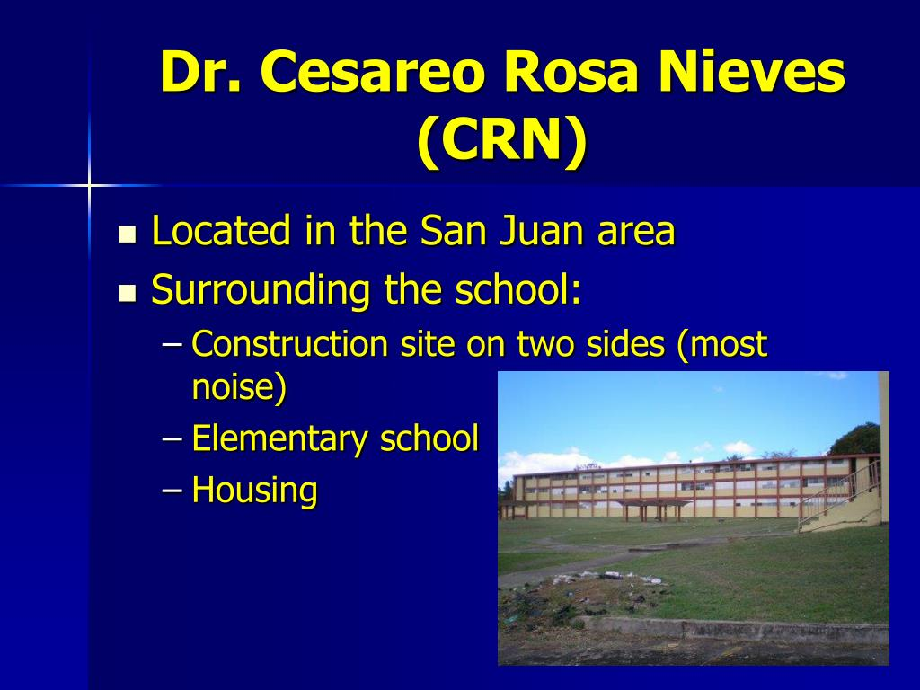Dr. Cesareo Rosa Nieves (CRN)