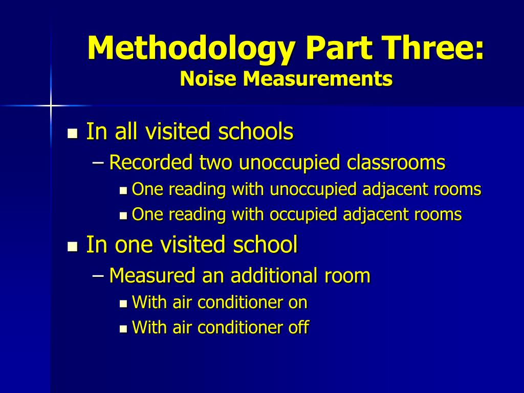 Methodology Part Three: