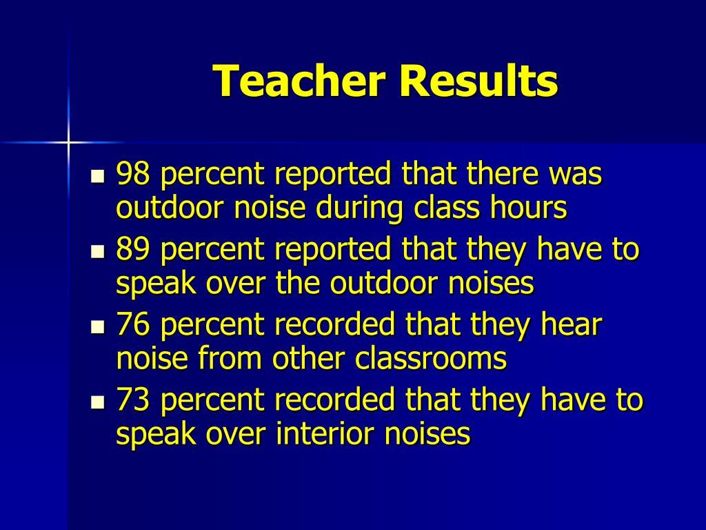 Teacher Results