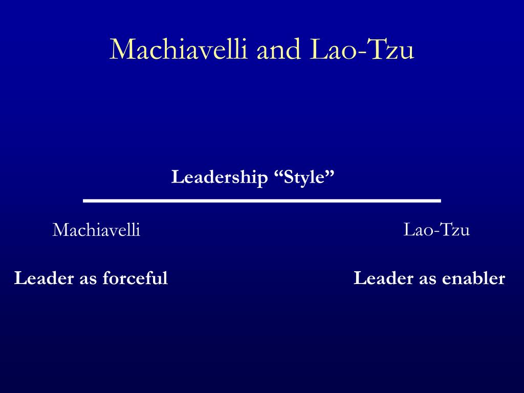 comparing and contrasting machiavelli and lao tzu Log in to access your dashboard, manage your notification preferences and send articles to others private message board if you're having trouble logging in to your.