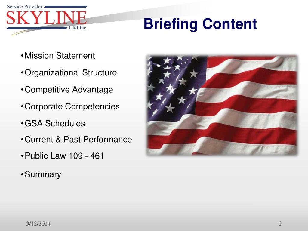 Briefing Content