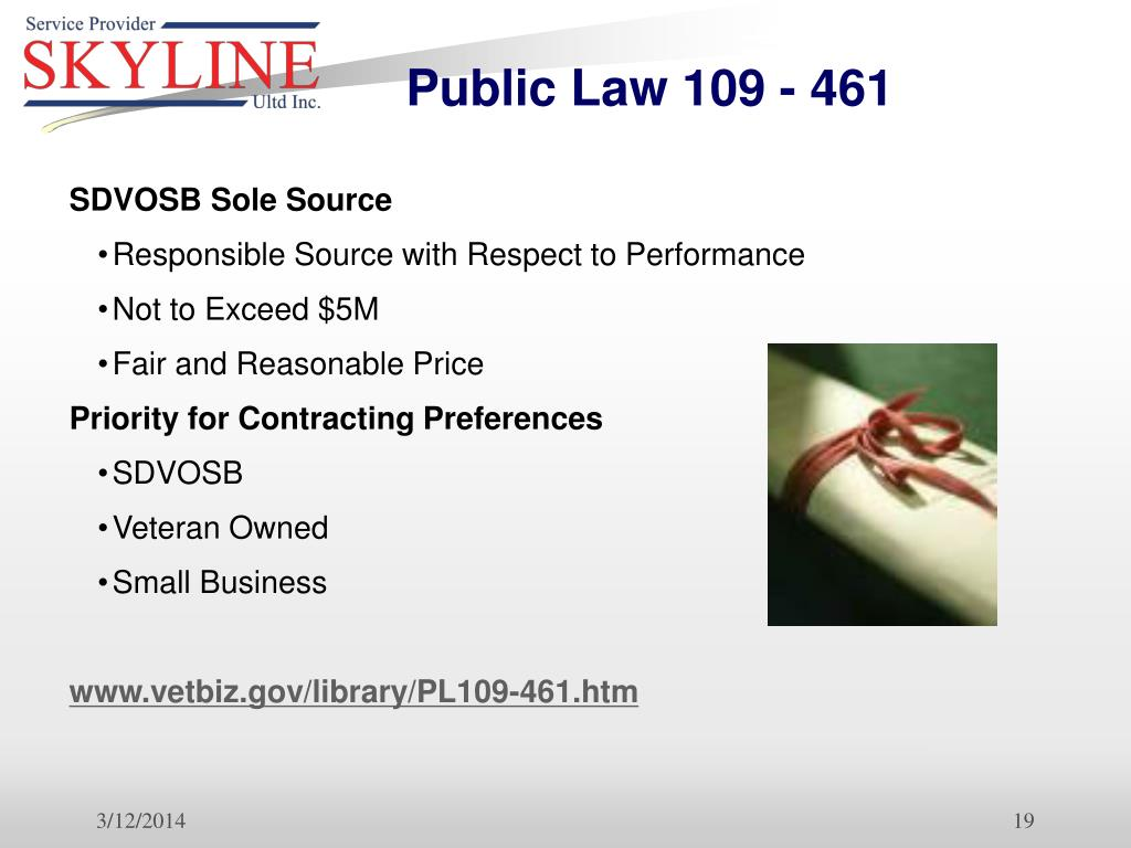 Public Law 109 - 461