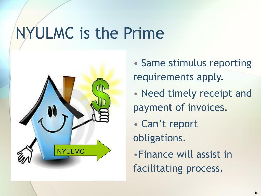 NYULMC is the Prime