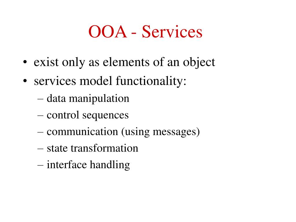 OOA - Services