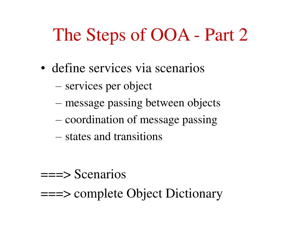 The Steps of OOA - Part 2
