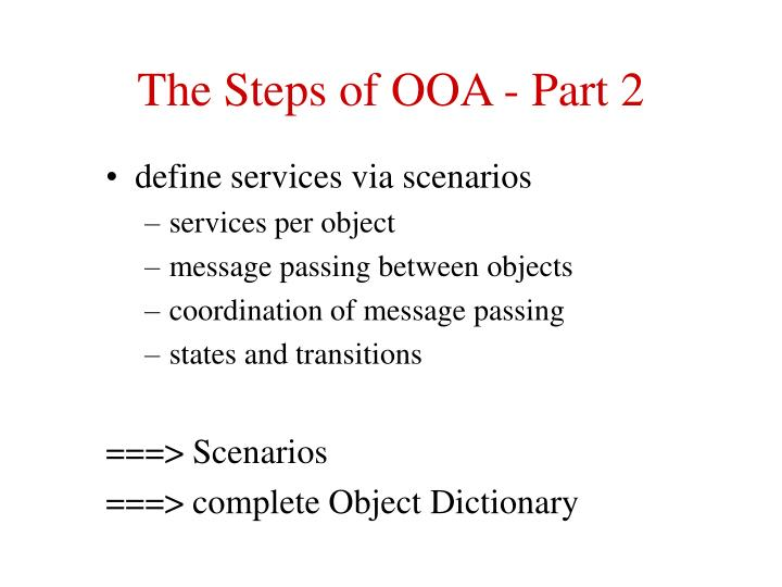 The steps of ooa part 2 l.jpg