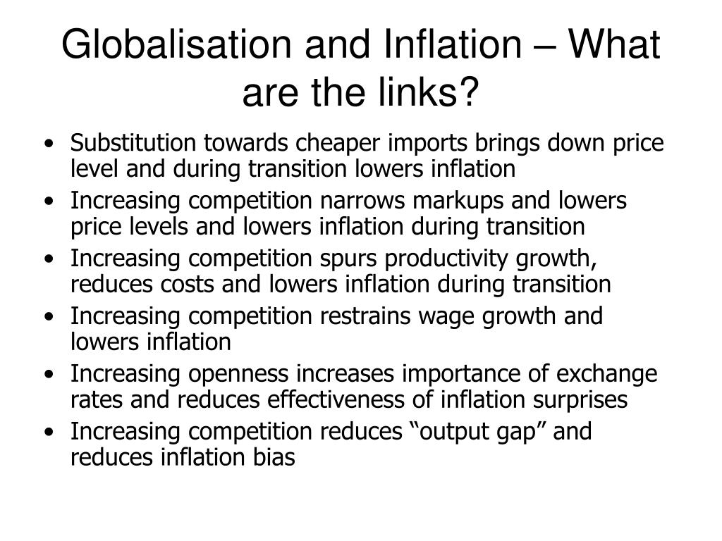 Globalisation and Inflation – What are the links?