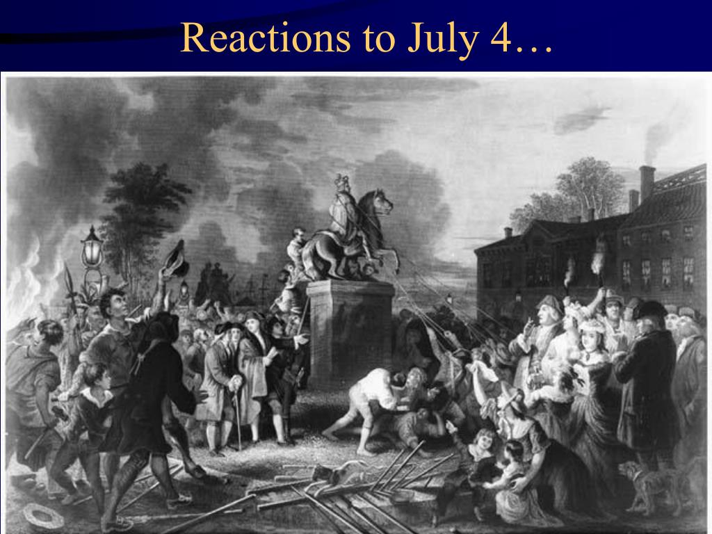 Reactions to July 4…