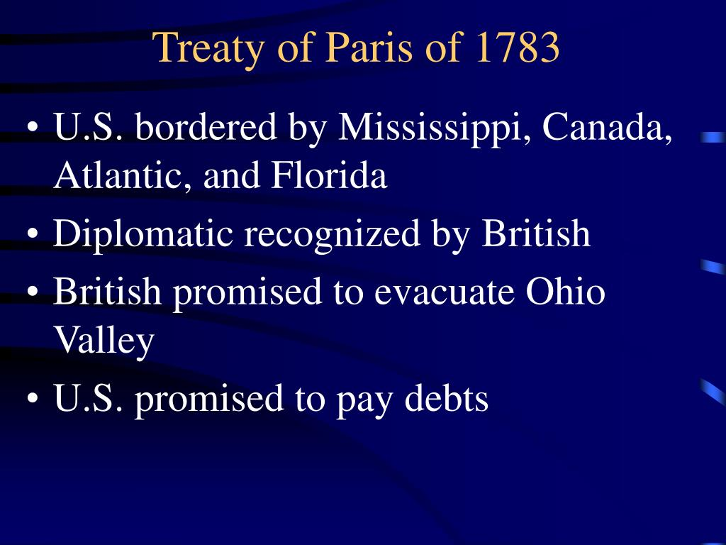 Treaty of Paris of 1783