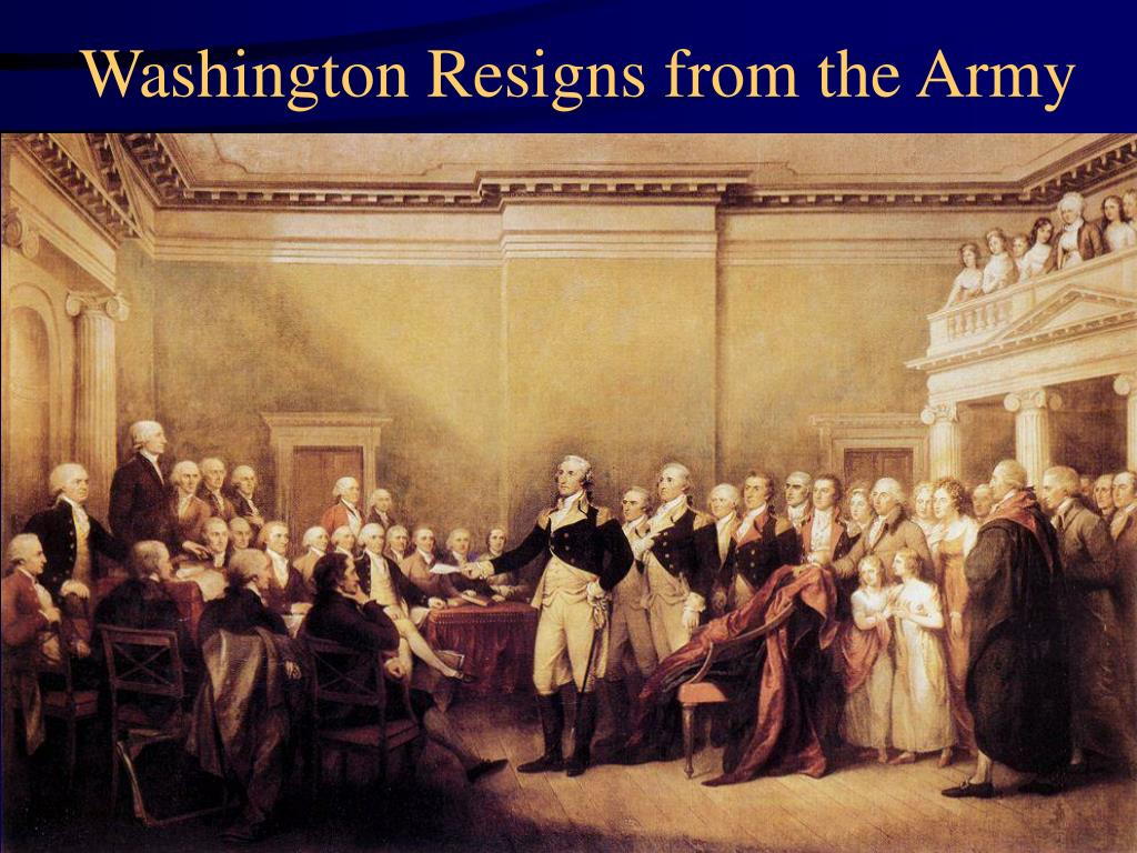 Washington Resigns from the Army