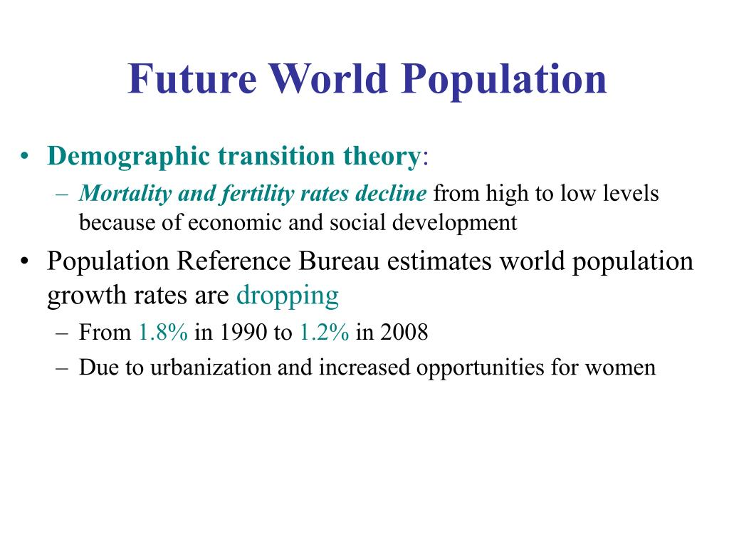Future World Population