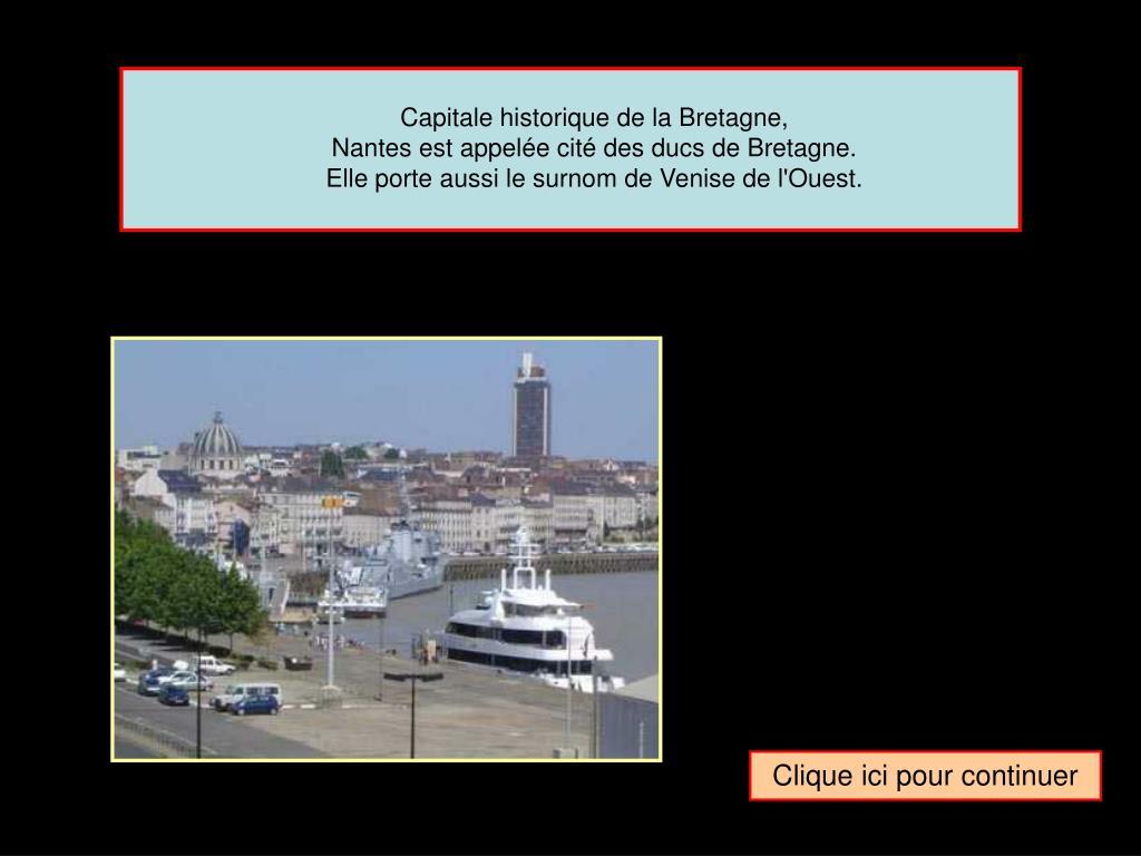 Capitale historique de la Bretagne,