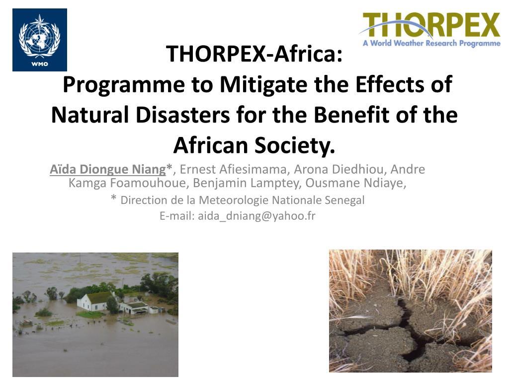 THORPEX-Africa: