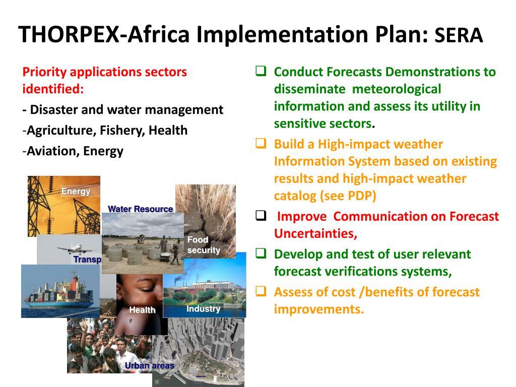 THORPEX-Africa Implementation Plan: