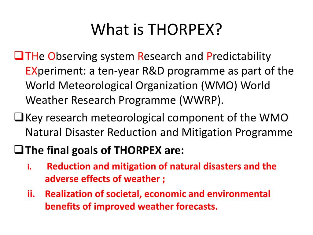 What is THORPEX?