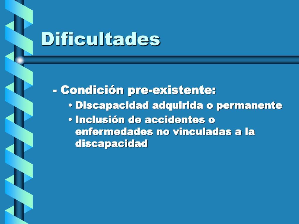 Dificultades