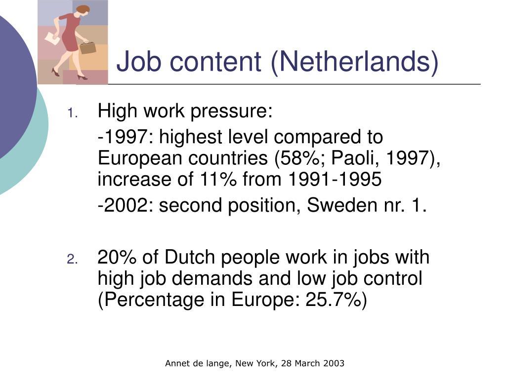Job content (Netherlands)