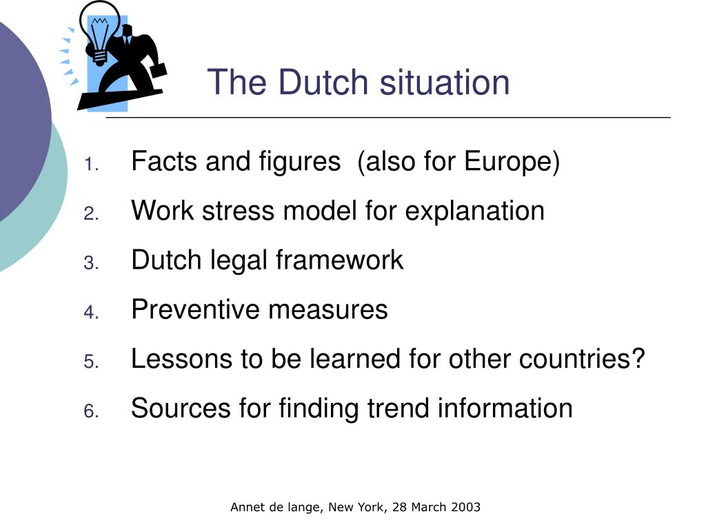The Dutch situation