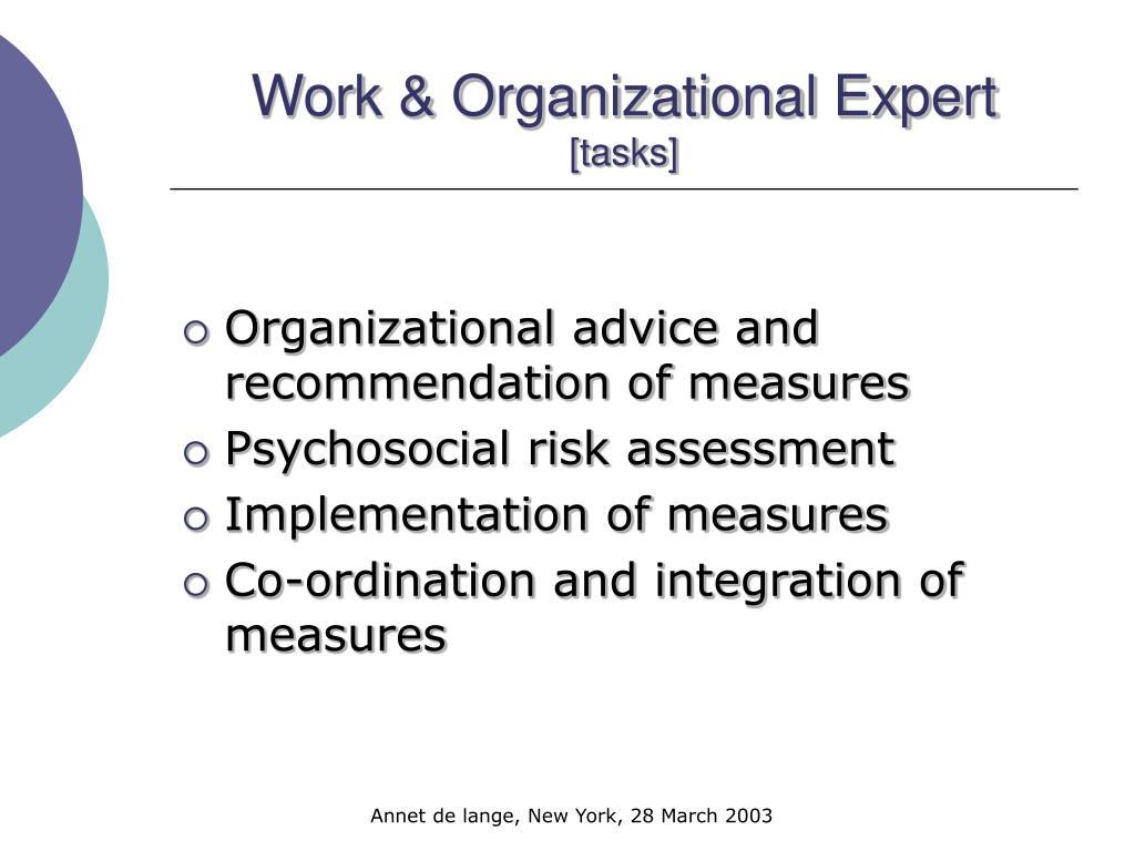 Work & Organizational Expert