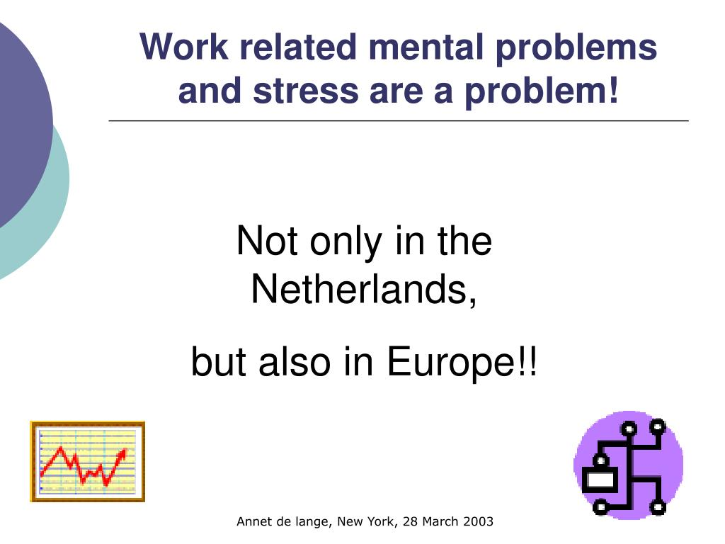 Work related mental problems and stress are a problem!