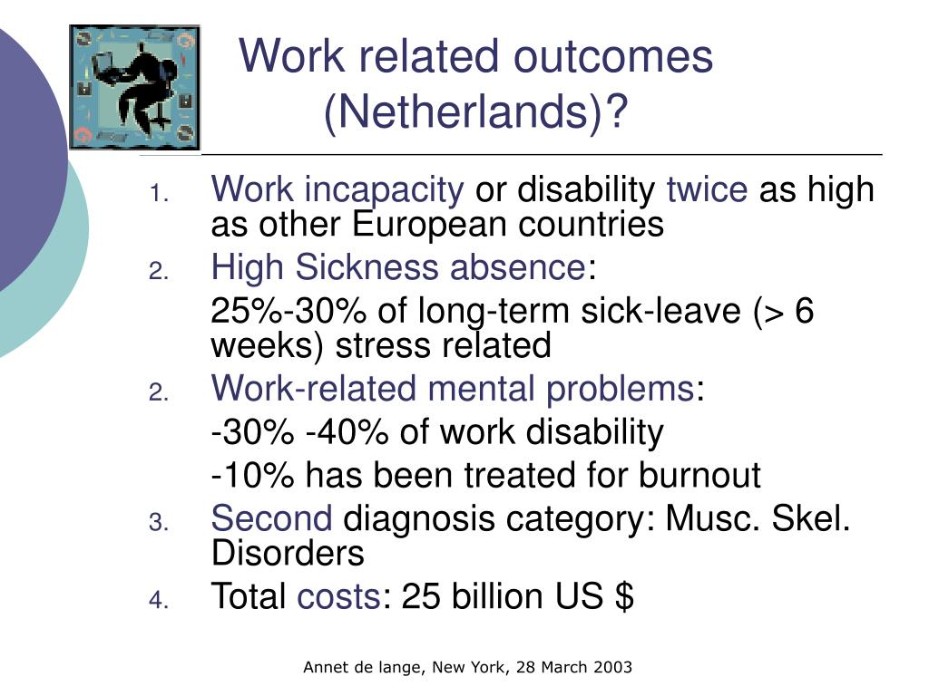 Work related outcomes  (Netherlands)?