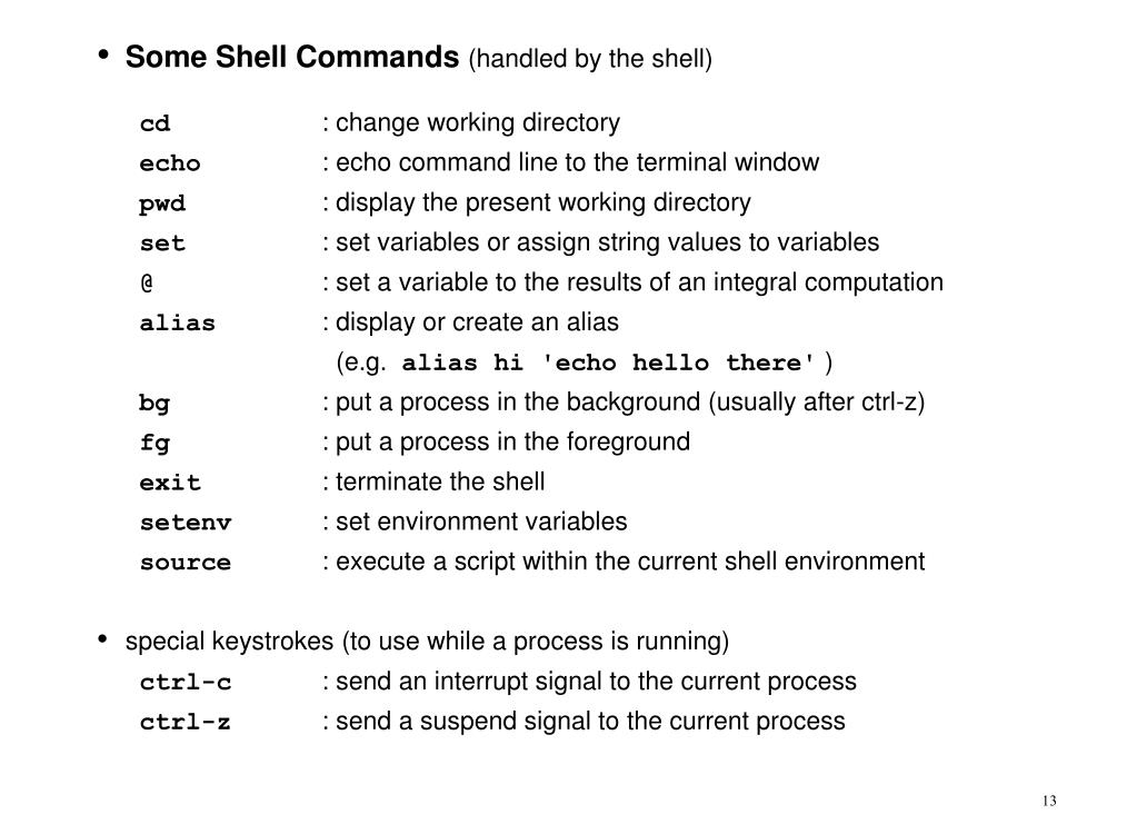 Some Shell Commands