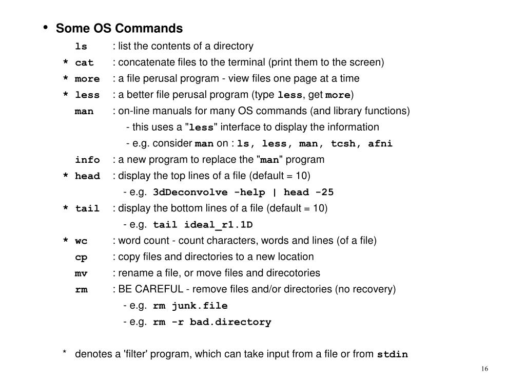 Some OS Commands