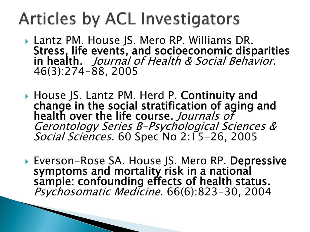 Articles by ACL Investigators