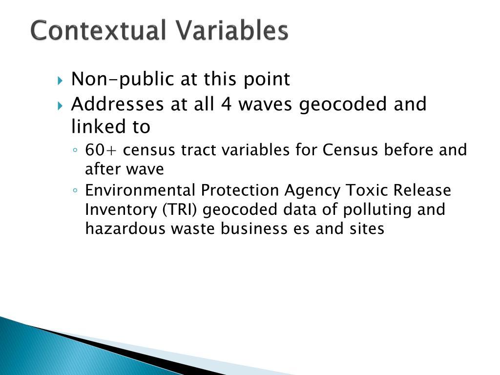 Contextual Variables