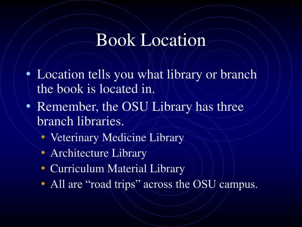 Book Location