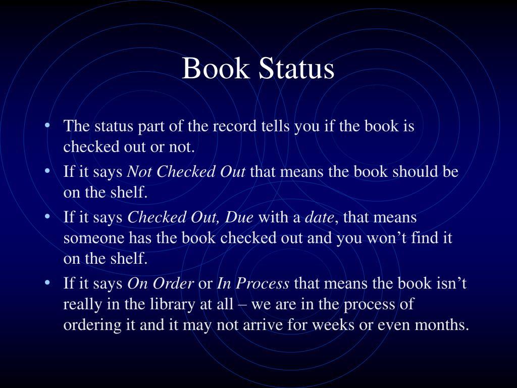 Book Status