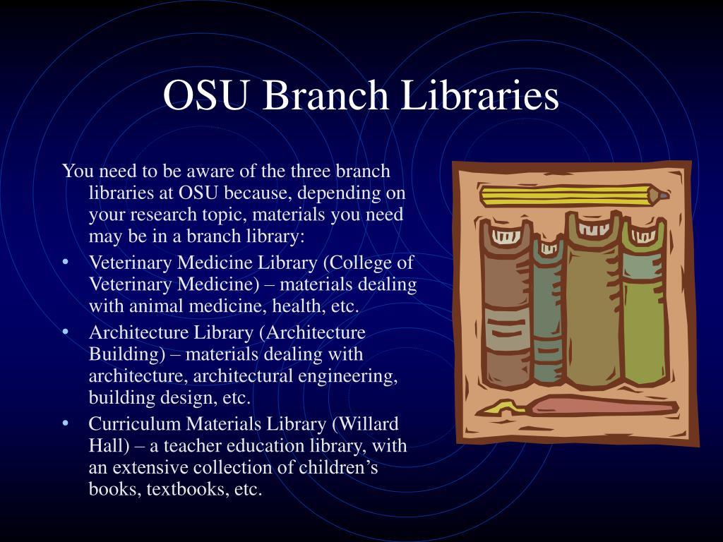 OSU Branch Libraries