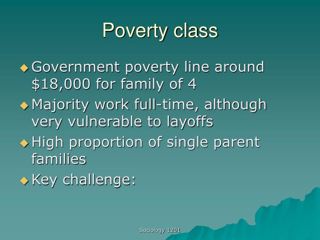 Poverty class